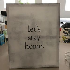 Wall art - let's stay home